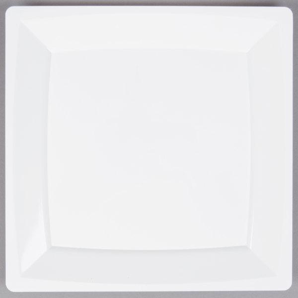 WNA Comet MS9W 8 1/4 inch White Square Milan Plastic Plate - 168/Case