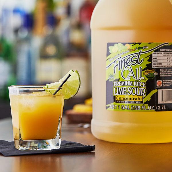 Finest Call 1 Gallon Premium Lime Sour Mix Concentrate - 4/Case