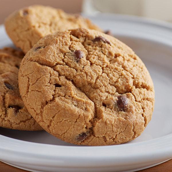 David's Cookies 3 oz. Preformed Gourmet Chocolate Chip Cookie Dough - 107/Case Main Image 2
