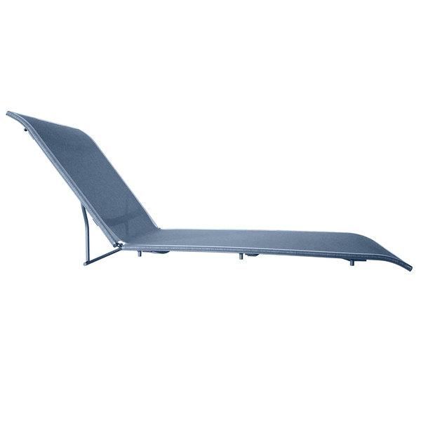 Sunset Madras Blue Chaise Lounge