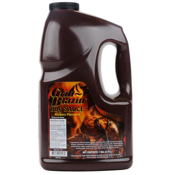 Oasis Grill Blazin' Barbecue Sauce 1 Gallon Jars - 4/Case