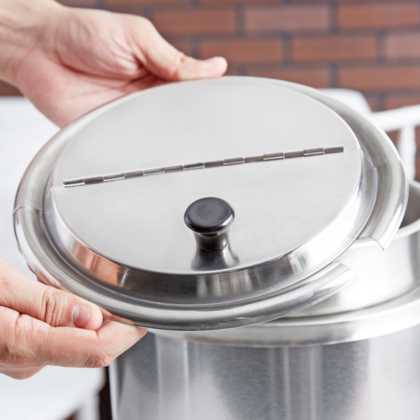 Notched / Hinged Stainless Steel Lid for 7 Qt. Inset
