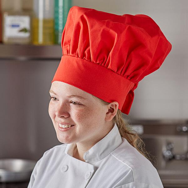 "Intedge 13"" Red Chef Hat Main Image 3"