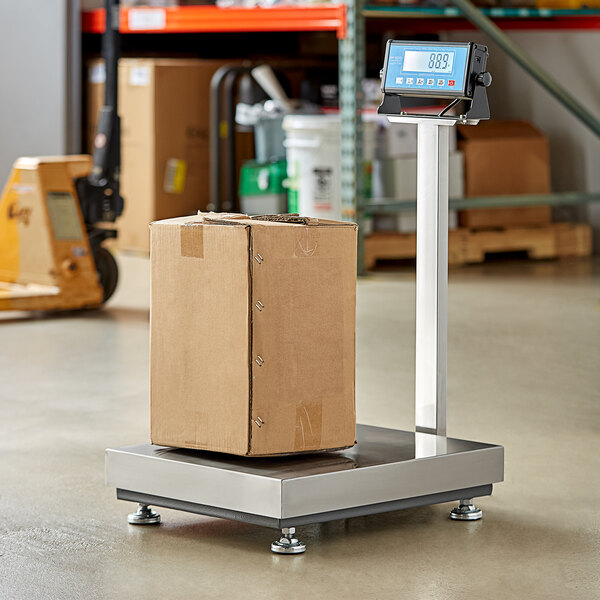 AvaWeigh BS300TX 300 lb. Digital Receiving Bench Scale with Tower Display, Legal for Trade Main Image 5