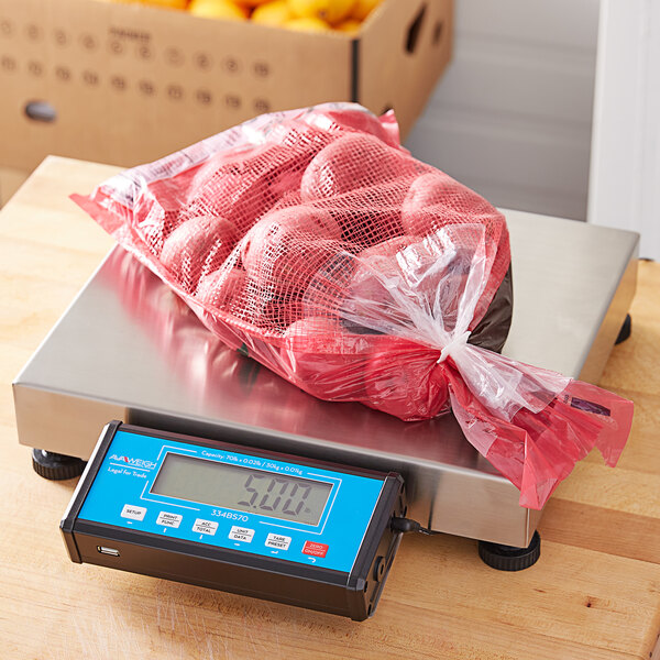 """AvaWeigh BS70 70 lb. Receiving Scale with 14"""" x 12"""" Platform, Legal for Trade Main Image 4"""