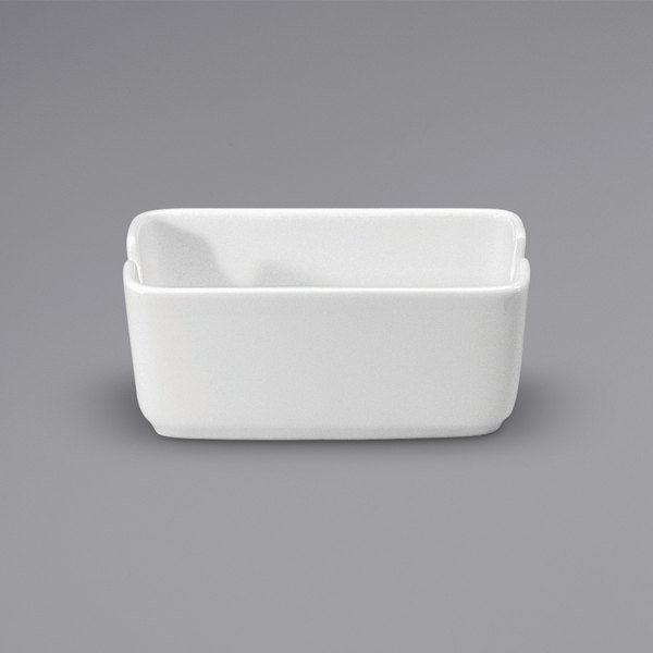 "Noritake N7010000906 Ovation 4 1/2"" x 2 3/8"" Bright White Porcelain Sugar Caddy by Oneida - 36/Case Main Image 1"