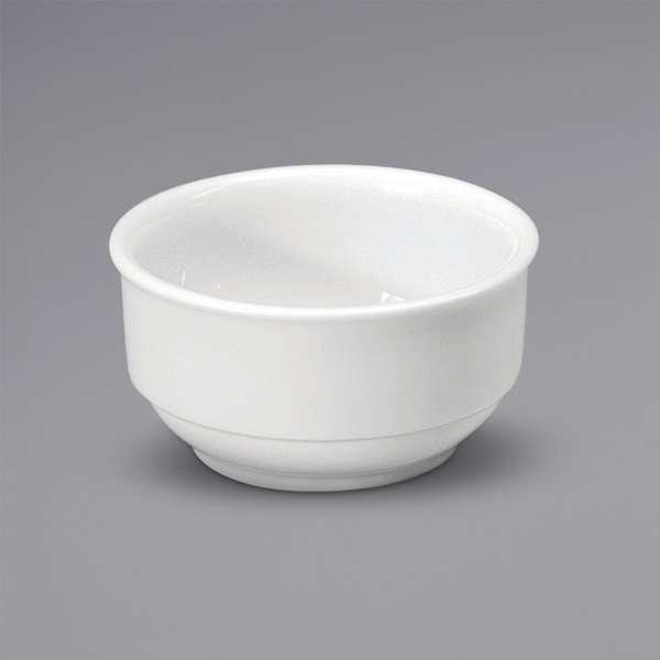Noritake N7010000705 Ovation 10 oz. Bright White Stackable Porcelain Bouillon Cup by Oneida - 36/Case Main Image 1
