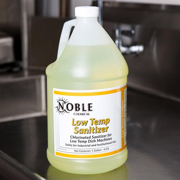 Noble Chemical 1 Gallon / 128 oz. Low Temp Dish Washing Machine Sanitizer - 4/Case
