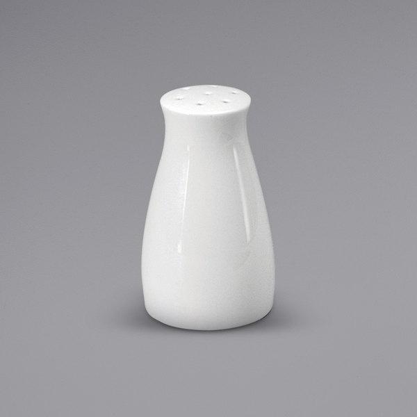 Noritake N7010000910 Ovation Bright White Porcelain Salt Shaker by Oneida - 36/Case Main Image 1