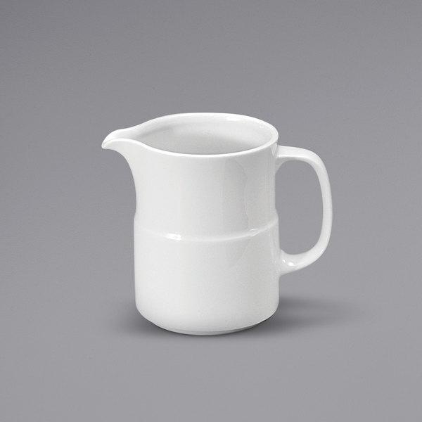 Noritake N7010000841 Ovation 13.5 oz. Bright White Porcelain Beverage Server by Oneida - 12/Case Main Image 1