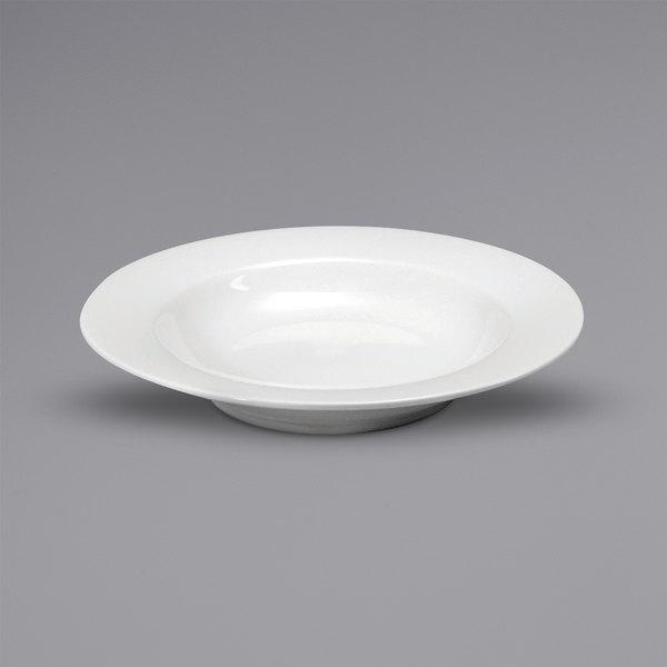Noritake N7020000790 Glacier 25 oz. Bright White Medium Rim Porcelain Pasta Plate by Oneida - 12/Case Main Image 1