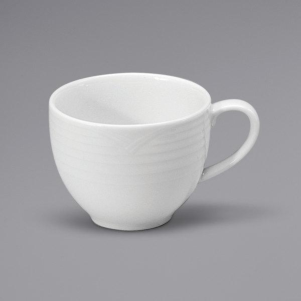 Noritake N7020000525 Glacier 3 oz. Bright White Embossed Porcelain Espresso Cup by Oneida - 36/Case Main Image 1