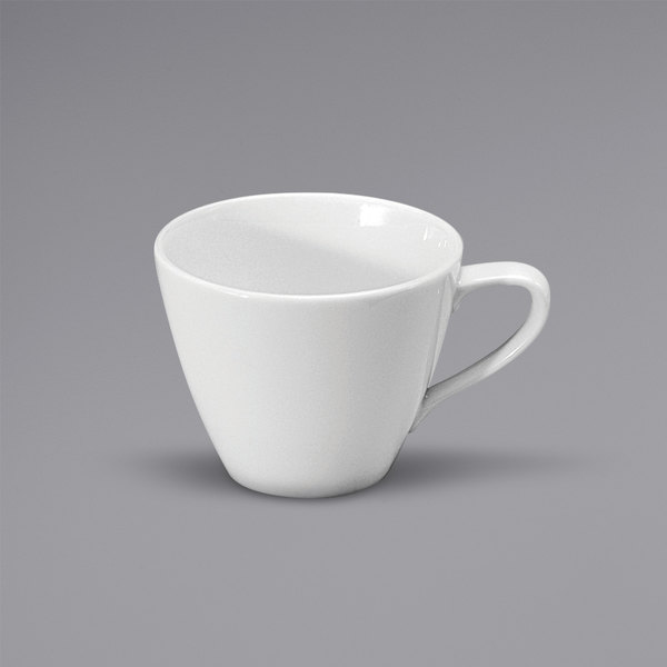 Noritake N7010000520 Ovation 6.75 oz. Bright White Porcelain Low Cup by Oneida - 36/Case Main Image 1