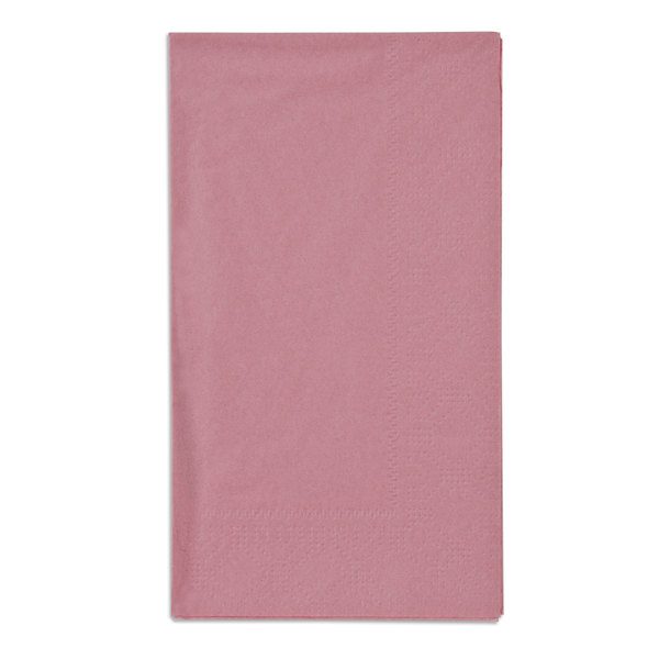 Dusty Rose Pink Paper Dinner Napkins, 2-Ply, 15\