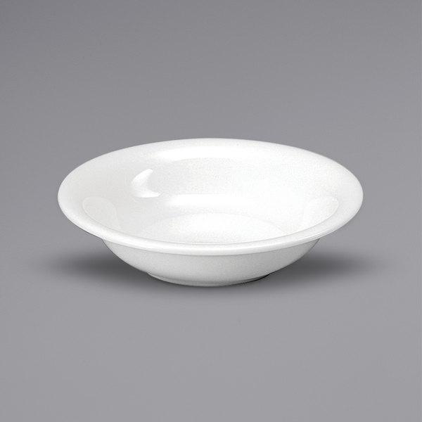 Noritake N7010000710 Ovation 8 oz. Bright White Porcelain Fruit Bowl by Oneida - 36/Case Main Image 1