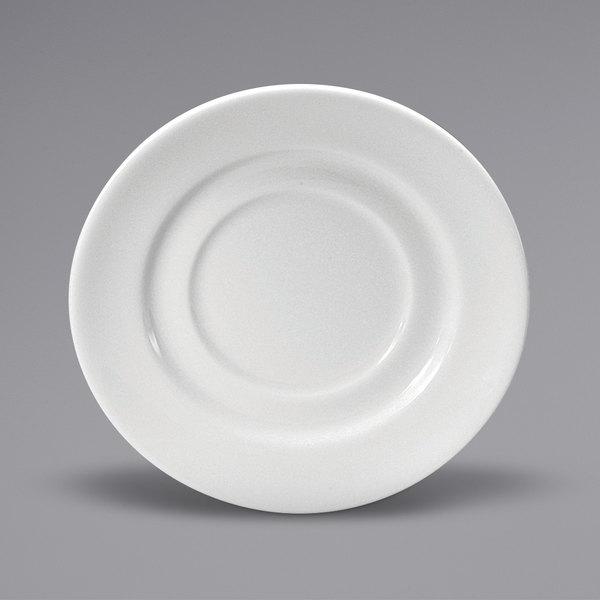 "Noritake N7010000501 Ovation 6"" Bright White Wide Rim Porcelain Saucer by Oneida - 36/Case Main Image 1"