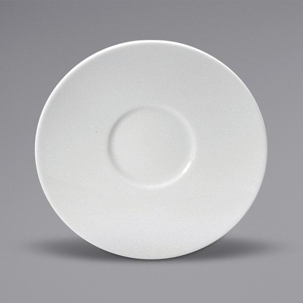 "Noritake N7010000502 Ovation 6"" Bright White Wide Rim Porcelain Saucer by Oneida - 36/Case Main Image 1"
