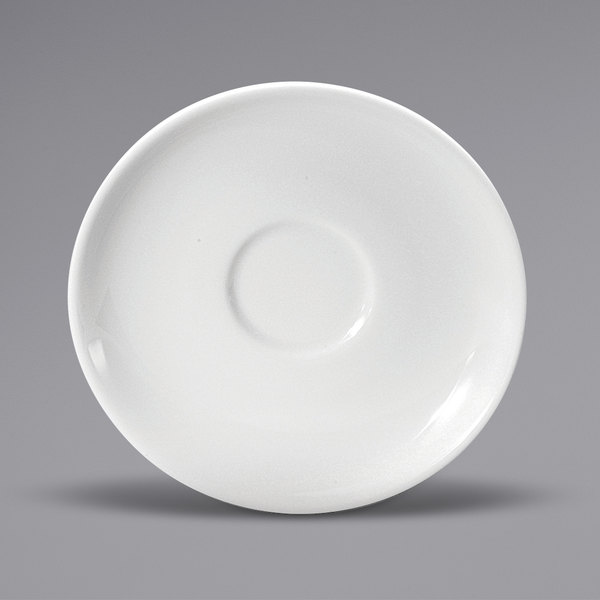 "Noritake N7010000500 Ovation 6"" Bright White Wide Rim Porcelain Saucer by Oneida - 36/Case Main Image 1"