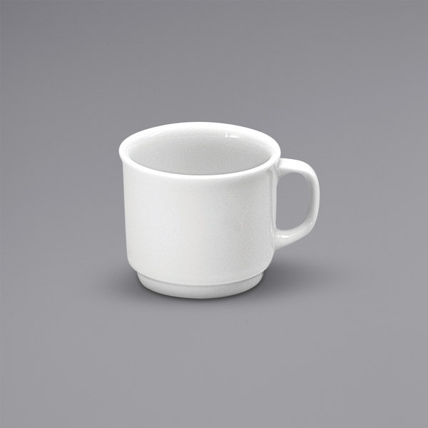 Noritake N7010000535 Ovation 2.75 oz. Bright White Stackable Porcelain Espresso Cup by Oneida - 36/Case Main Image 1