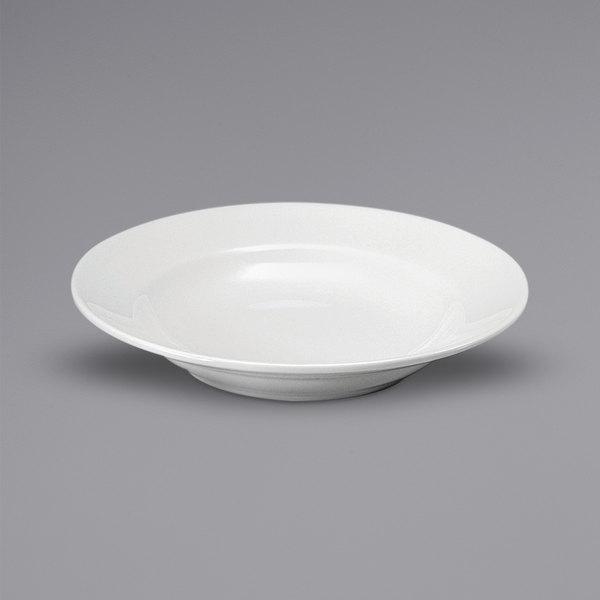 Noritake N7010000740 Ovation 22 oz. Bright White Wide Rim Deep Porcelain Soup Bowl by Oneida - 24/Case Main Image 1