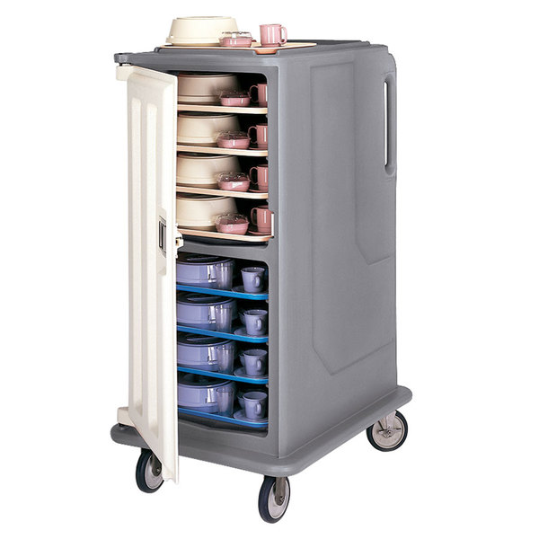 Cambro MDC1520T16191 Granite Gray 2 Compartment Meal Delivery Cart 16 Tray Main Image 1