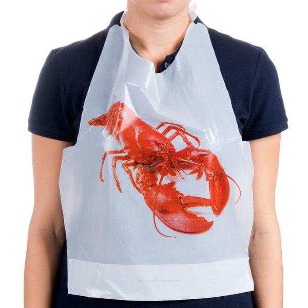 Royal Paper PB25 Disposable Lobster Bib - 500/Box Main Image 1
