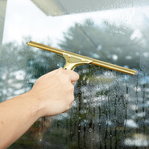 "Unger GS300 GoldenClip Complete Brass 12"" Window Squeegee"