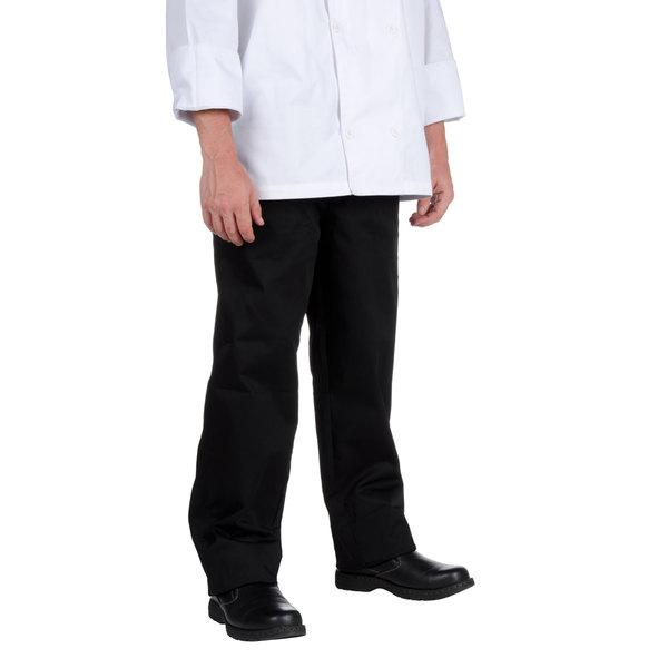 Chef Revival Unisex Black Chef Pants - 4XL