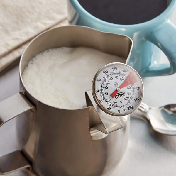 """CDN IRB220-F ProAccurate Insta-Read 5"""" Hot Beverage and Frothing Thermometer - 0 to 220 Degrees Fahrenheit Main Image 4"""