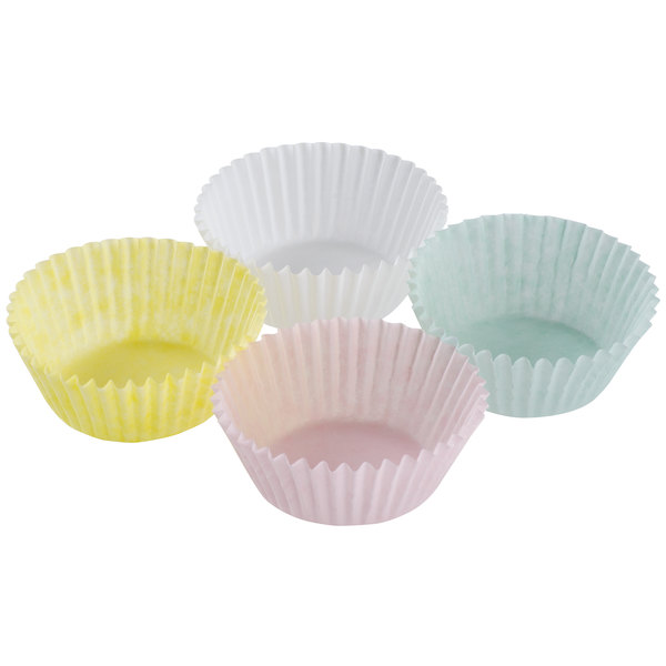 "1 3/4"" x 1"" Assorted Colors Pastel Baking Cups - 1000/Pack"