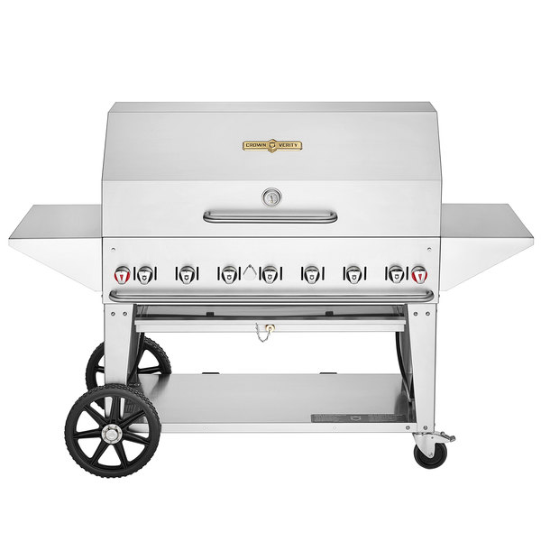 """Crown Verity MCB-48PRO Professional Series Liquid Propane 48"""" Mobile Outdoor Grill with Accessory Package Main Image 1"""