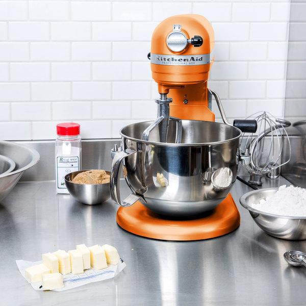 KitchenAid KP26M1XTG Tangerine Professional 600 Series 6 Qt. Countertop Mixer