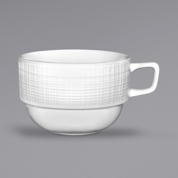 International Tableware DR-37 Dresden 4.5 oz. Bright White Stoneware A.D. Espresso Cup - 36/Case