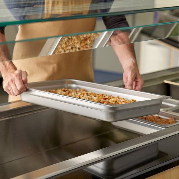 """Full Size 2 1/2"""" Deep Stainless Steel Steam Table / Hotel Pan - 25 Gauge Main Image 2"""