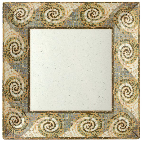 "GET ML-92-MO 16"" Square Mosaic Plate - 6/Case"
