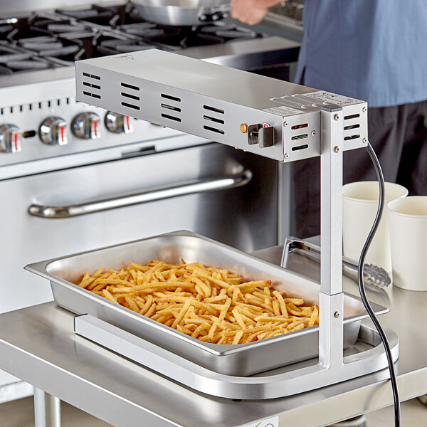 Avantco FFDS-2 Freestanding Strip-Style French Fry Warmer / Dump Station - 120V, 500W Main Image 3