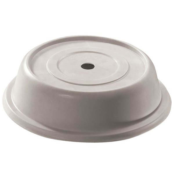 "Cambro 99VS380 Versa Camcover 9 9/16"" Ivory Round Plate Cover - 12/Case"
