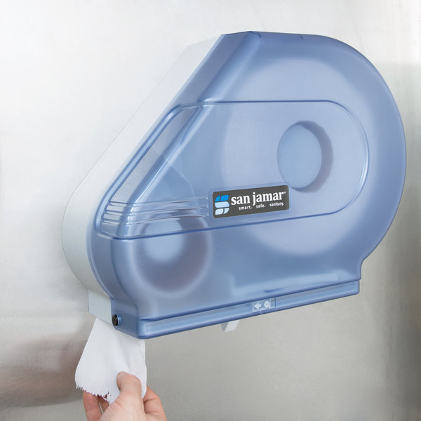 "San Jamar R3000TBL Reserva Classic 9""-10 1/2"" Jumbo Toilet Tissue Dispenser - Arctic Blue Main Image 10"