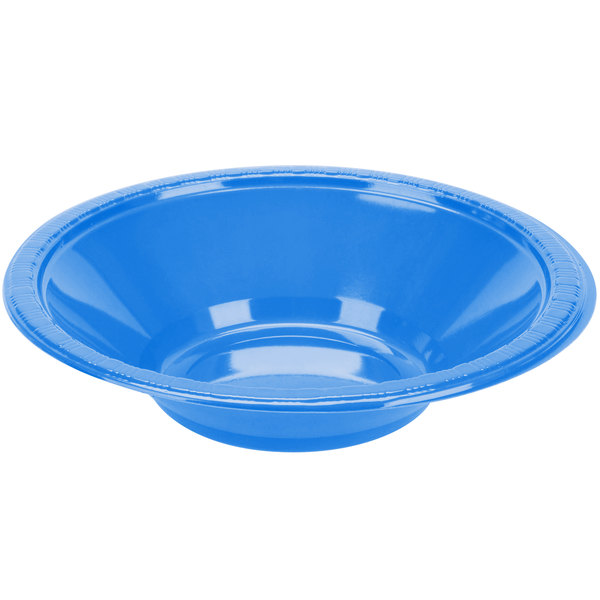 Dart Solo PSB2B-0099 Plastic Party Bowl Blue 12 oz. - 500/Case