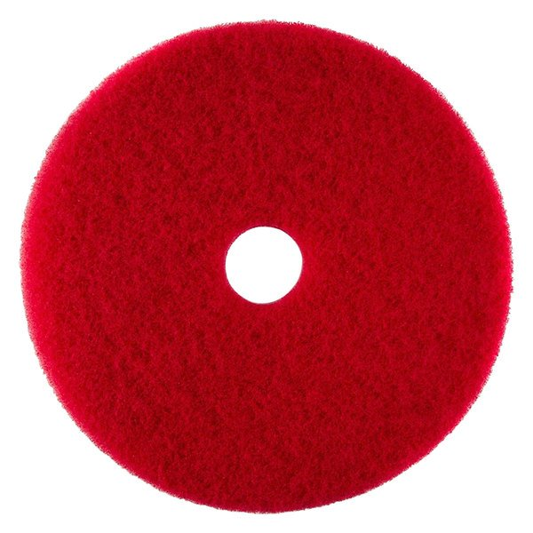 """Scrubble by ACS 51-17 Type 55 17"""" Red Buffing Floor Pad"""