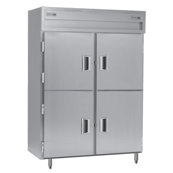 Delfield SMDFP2-SH 49.92 Cu. Ft. Solid Half Door Dual Temperature Reach In Pass-Through Refrigerator / Freezer - Specification Line