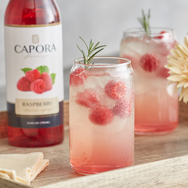 Capora 750 mL Raspberry Flavoring Syrup Main Image 2