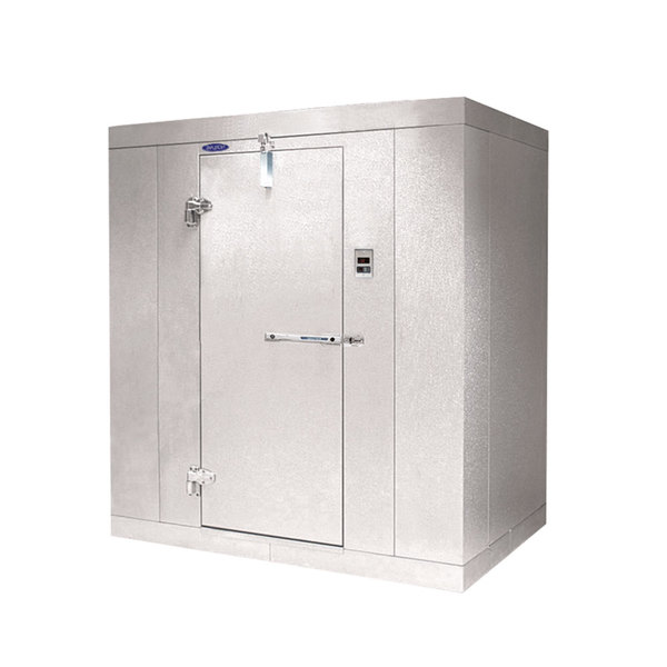 "Lft. Hinged Door Nor-Lake KL74814 Kold Locker 8' x 14' x 7' 4"" Indoor Walk-In Cooler Box without Floor"