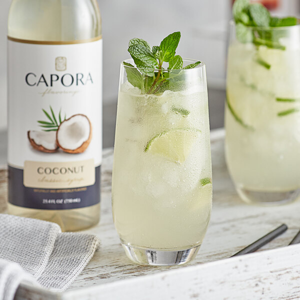 Capora 750 mL Coconut Flavoring Syrup Main Image 2