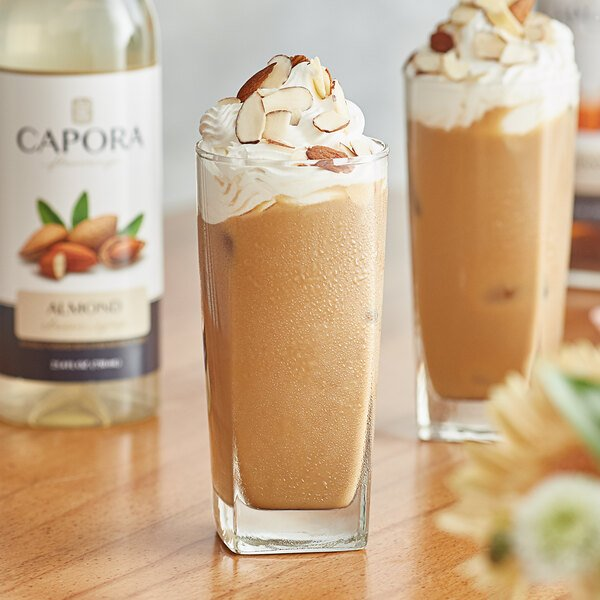 Capora 750 mL Almond Flavoring Syrup Main Image 2