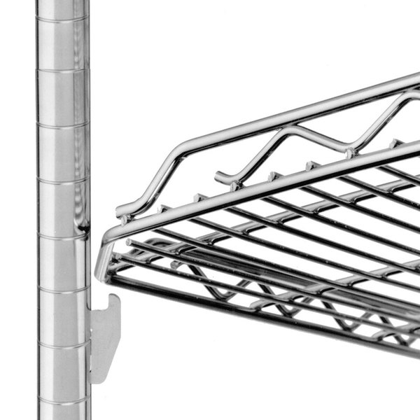 "Metro HDM1448QBR qwikSLOT Drop Mat Super Erecta Brite Wire Shelf - 14"" x 48"""