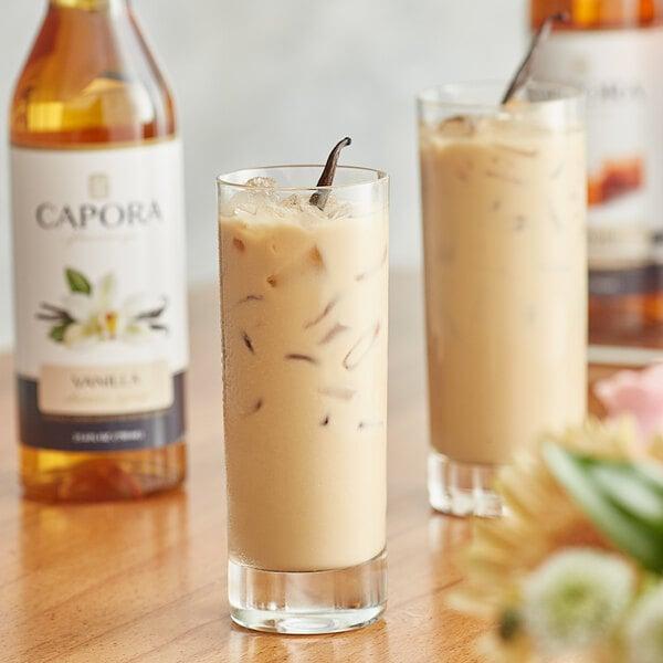 Capora 750 mL Vanilla Flavoring Syrup Main Image 2