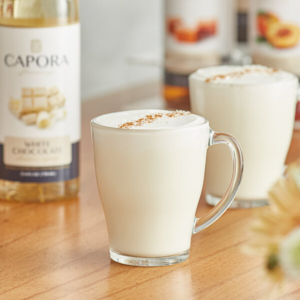 Capora 750 mL White Chocolate Flavoring Syrup Main Image 2
