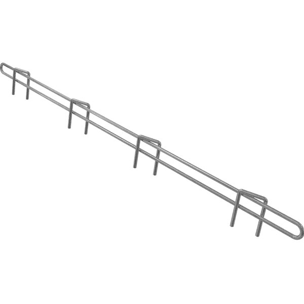 "Metro L60N-1-DSH Super Erecta Silver Hammertone Ledge 60"" x 1"""