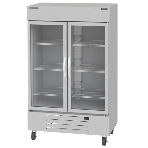 "Beverage-Air HBF49-1-G Horizon Series 52"" Glass Door Reach-In Freezer with LED Lighting Main Image 1"